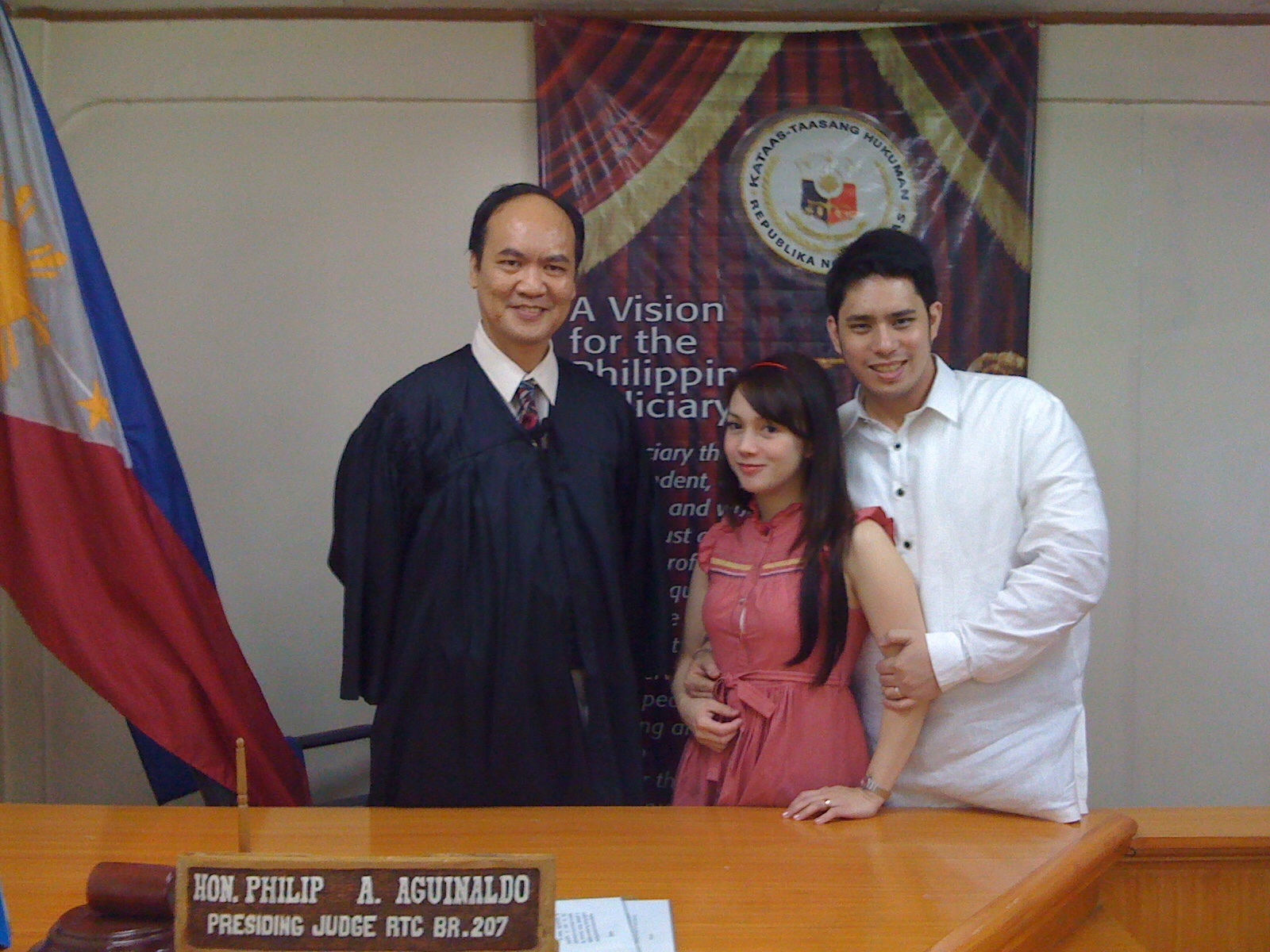 With Family Court judge, the Hon. Philip A. Aguinaldo.