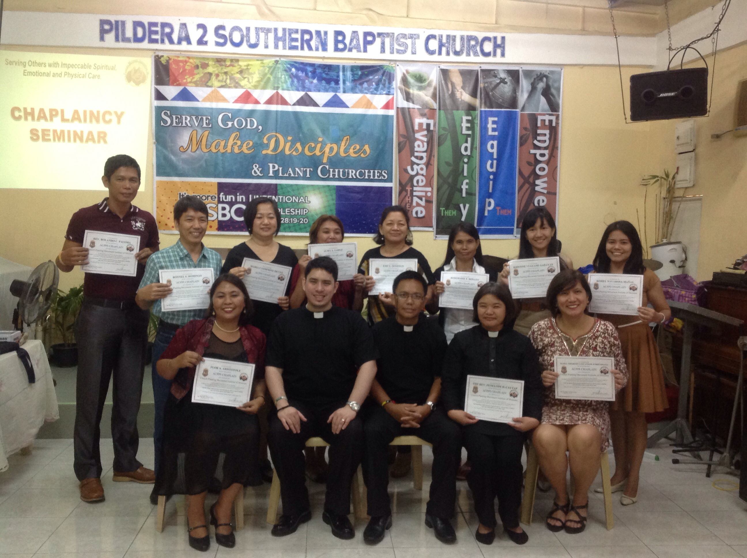 Pastor Terence Camua with Bishop Alex Arceno conducted a Chaplaincy training seminar for pastoral counselors.